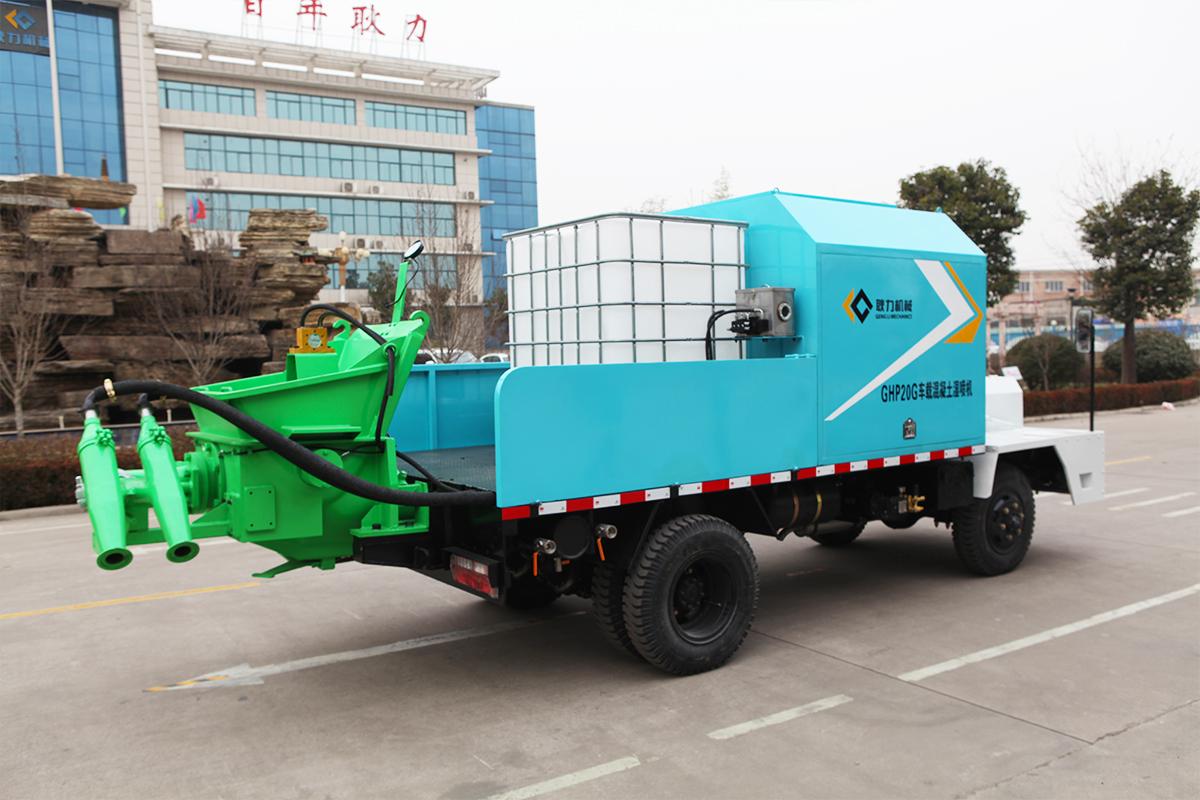 车载湿喷机喷射材料的质量控制及产品优势