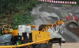 耿力混凝土湿喷台车承建老鼻山隧道三号横洞