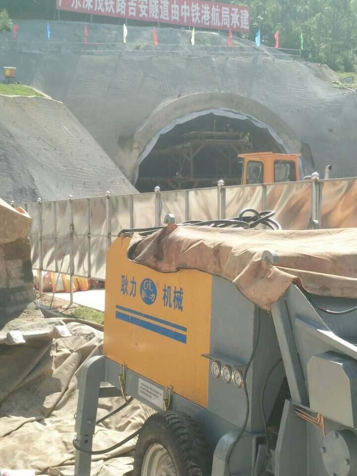 恭贺河南省耿力工程设备湿喷机承建吉安隧道